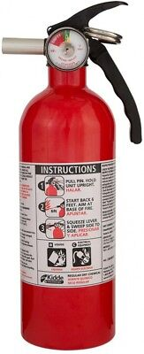 Kidde 5-B:C Rated Disposable Fire Extinguisher Home Auto With Bracket and Gauge