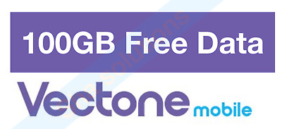 Vectone Pay as go Trio Sim, Preloaded with 100gb data for 30 Days, Fast Delivery