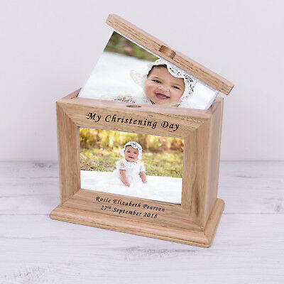 PERSONALISED Wooden Photo Album 'My Christening Day' 72 Photos 6 x 4 Gift Idea