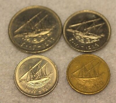 Set of 4 Kuwait coins