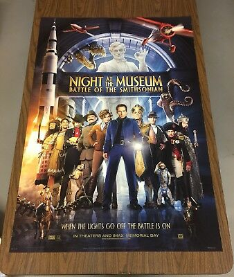 NIGHT AT THE MUSEUM 2 Original Double Sided Movie Poster 27X40 Ben Stiller