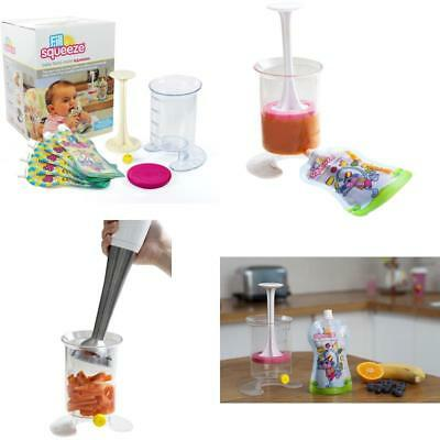 Fill N Squeeze Weaning &Amp; Feeding Pouch Filling System With Reusable Pouches