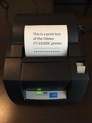 Citizen Ct-S310 Pos Thermal Label Receipt Printer Usb-Serial Port Auto-Cut