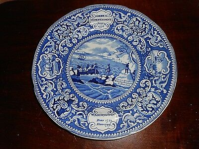 An Early Enoch Woods Burslem U.s. Independence Commemorative Plate