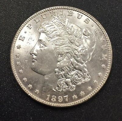 1897 Morgan Silver Dollar (#8219) Nice Choice BU. Carefully Check out the Photos