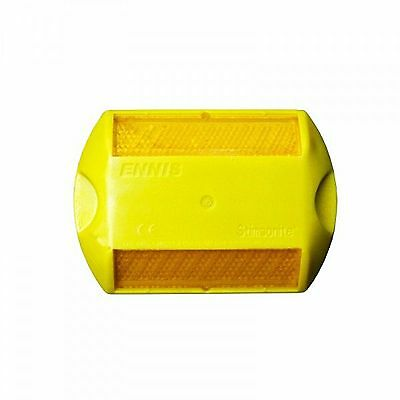 15 NEW Two-Way Yellow RPM Raised Pavement Markers Reflectors