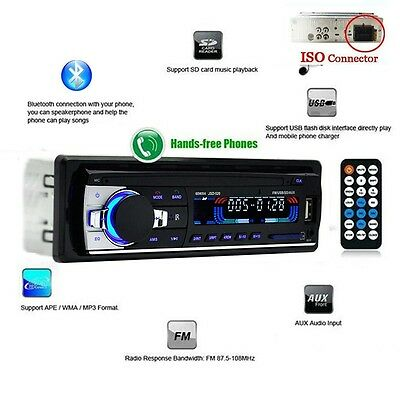 Car Audio Deck Stereo Player with Bluetooth/AUX/MP3/FM/USB/SD card