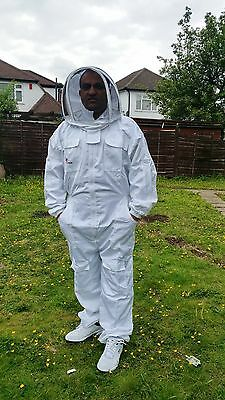 PREMIUM QUALITY Beekeeping suit beekeeper suit bee suit with fencing veil-LARGE