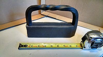Antique 1700s cast iron Sad Iron curled handle, hand forged