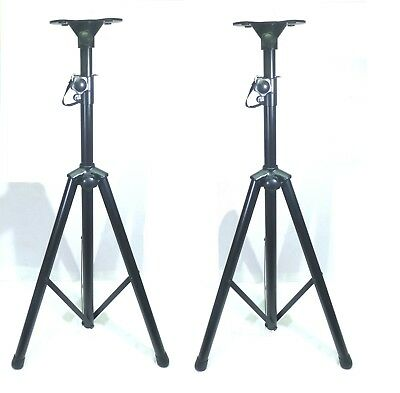 (2) Two  Adjustable Pole / Tripod Speaker Stand with Universal Mounting Base.