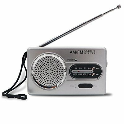 Portable AM/FM RADIO 2 AA Battery Powered Compact Transistor Home Outage Power