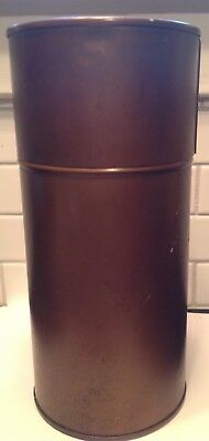Vintage Brass Petri Dish Sterilization Container with Removable Rack & Lid