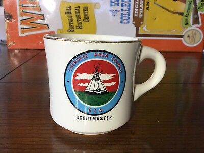 Vintage Boy Scouts Cherokee Area Council Scoutmaster Coffee Mug B.S.A