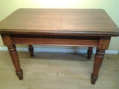 Victorian chunky  pitch  pine farmhouse kitchen table