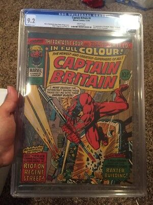 Captain Britain 8 White Pages CGC 9.2 1st Appearance Of Betsy Braddock Psylock