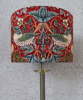 Red William Morris Strawberry Thief lampshade Ceiling or Lamp - 3 Size Options