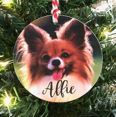 Personalised Wooden Pet Dog Puppy Cat Christmas Tree Hanging Decoration Baubles