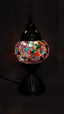 Mosaic table lamp stained glass shade turkish light moroccan lamp mosaic table lamp stained glass shade turkish light moroccan lamp multi color aloadofball Choice Image