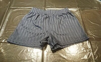 2 Pairs of Kids Navy Blue School Sports PE Shorts age 3 to 4