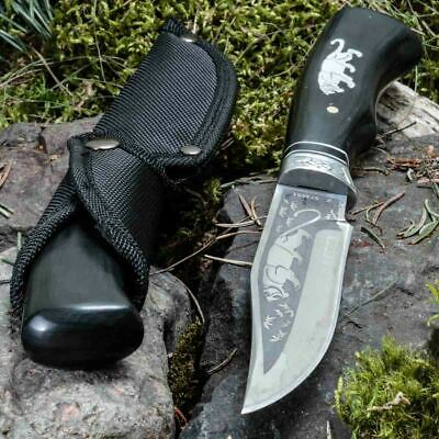 10.24in KANDAR FB-2 FIXED BLADE KNIFE HUNTING A.