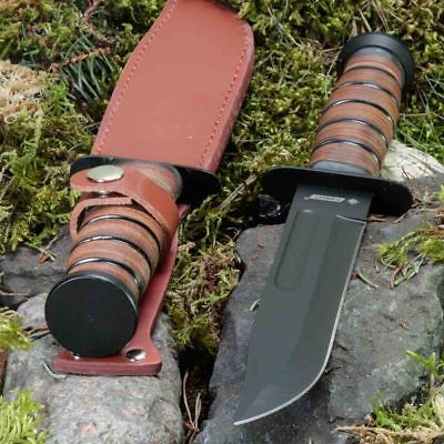 11.81in KANDAR 2202 FIXED BLADE KNIFE HUNTING A.