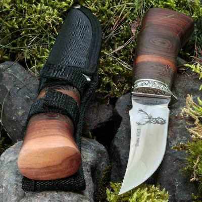 8.94in KANDAR FB-52 FIXED BLADE KNIFE HUNTING A.