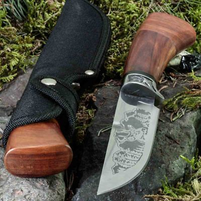 10.79in KANDAR B-3183 FIXED BLADE KNIFE HUNTING A.