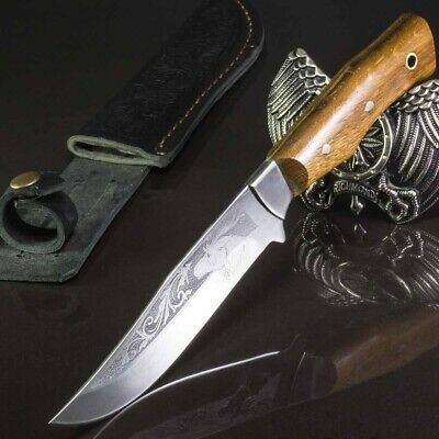 10.43in ROTHIRSCH CUSTOM HANDMADE KNIFE HUNTING A.
