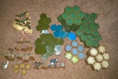 Heroscape Swarm of the Marro Master Set Figures and Hexes Incomplete Lot