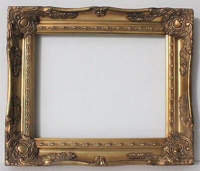 Vintage Picture Frame Gold Plated Metal 8 X 10 Scrolled W Decrotive
