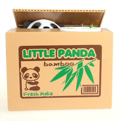 Automated Cute Panda Steal Coin Itazura Piggy Bank Stealing Money Saving Box THF