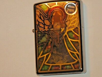 New Genuine ZIPPO Windproof Lighter Christian 28967 Angel Hi Polish Chrome Case