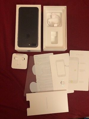 Iphone 7 Plus, Black, 128GB Box, manuals, Earphones