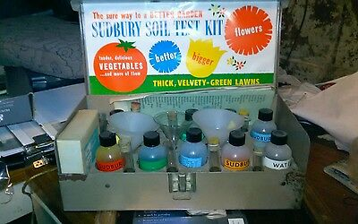Vintage (60's?) Sudbury Soil Test Kit With  Parts That Dont Come In Most Kits