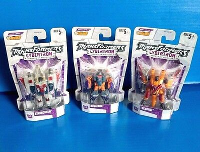 "TransFormers Cybertron Scourge Megatron StarScream Seeker Legends 3"" G1 Lot MOSC"