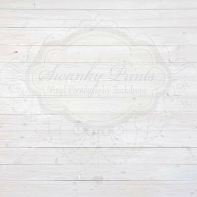AU SELLER! VINYL PHOTOGRAPHY BACKDROPS 5x5ft / 1.5x1.5m *Washed Out White Wood*