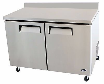 Atosa Stainless Steel 60-Inch Two Door Worktop Refrigerator  Energy Star Rated