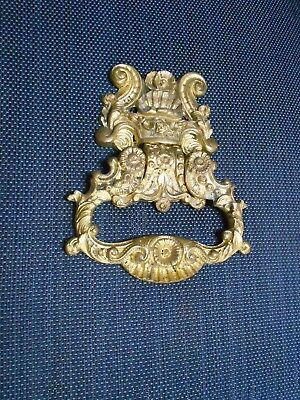 Antique french solid bronze door knocker  1900's / door handles