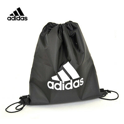 Adidas Shoes Gym Sack Bag Backpack Football Soccer Strap Black Unisex Accessory