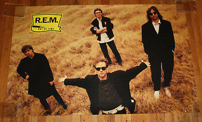 Vintage 1991 REM Out of Time CD 23x35 Full Size Poster