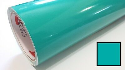 "Gloss Turquoise Vinyl 48""x30' Roll Sign Making Decal Supplies Craft Decoration"