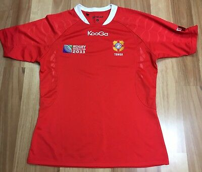 Tonga 2011 Rugby World Cup Supporter Jersey By Kooga- Good Used Condition Sz M