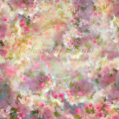 AU SELLER! VINYL PHOTOGRAPHY BACKDROPS 5x5ft / 1.5x1.5m *Spring Time Blooms*
