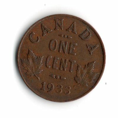 1933 Canadian Penny   507