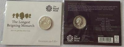 The Royal Mint Longest Reigning Monarch 2015 UK £20 Fine Silver Coin