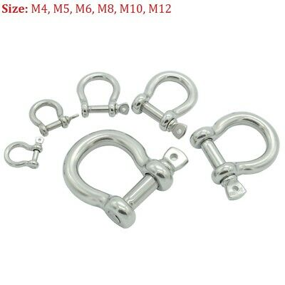 Stainless Steel Bow Shackles Shackle Lifting Towing 4mm 5mm 6mm 8mm 10mm 12mm