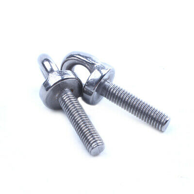M5 x 20mm Metric Thread Machinery Shoulder Lifting Eye Bolt 5Pcs O7G6