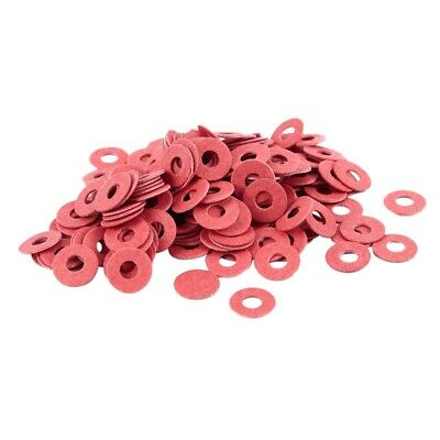 200 Pcs 3x8x0.7mm Insulated Fiber Insulating Washers Spacers Red Y3P9