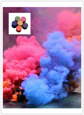 Colorful Smoke Cake Smoke Effect Show Round Bomb Photography Toy Aid Divine Gift