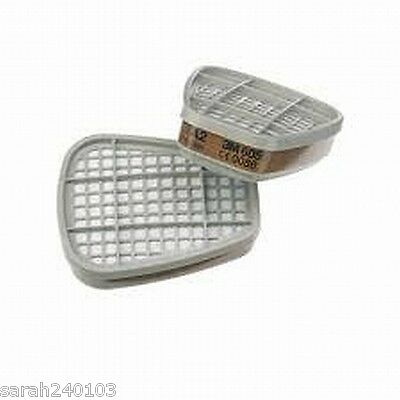 3M 6051 Organic Vapour Gas Filters 2 Pairs 6000/7500 Series